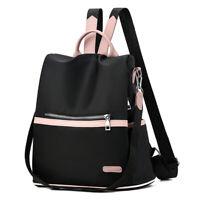 Women Anti-theft Backpack Oxford School Travel Waterproof Satchel Shoulder Bag