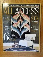Anita Goodesign ALL ACCESS November 2016 Machine Embroidery Designs CD & BOOK