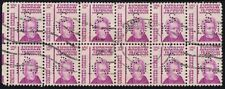 USA 10c Andrew Jackson Block12 with PERFIN - Used @J546