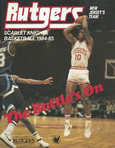 1984-1985 Rutgers Scarlet Knights Men's Basketball Media Guide w. John Battle