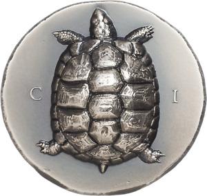 Cook Islands 2020 5 $ - Antique Tortoise -  1 Oz Antique Silbermünze