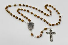 Olive Wood Lourdes Water Rosary Beads & Lourdes Prayer Card Catholic Gift Shop