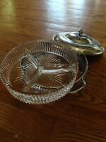 Glass and Metal candy serving tray