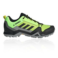 adidas Mens Terrex AX3 Walking Shoes Yellow Sports Outdoors Breathable
