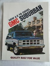 GMC Suburban 6.2 V8 Diesel brochure 1982