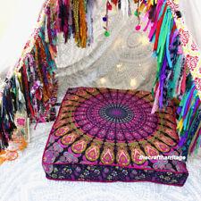 Indian Mandala Print Square Cushion Cover Meditation Box Floor Pillow Case Large