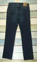 American Eagle Slim Straight Leg Mens Jeans 30 x 31 STRETCH DENIM DARK WASH