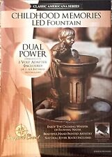 2 Newport Table Top Water Fountains 1 BOY & 1 GIRL Indoor  LED  NIB