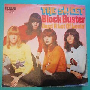 "The Sweet - Block Buster / Need a lot of Lovin'  • 7"" Single LP Vinyl"