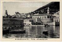 Harbor of Dubrovnik Croatia Yugoslavia 1930s Trade Ad Card