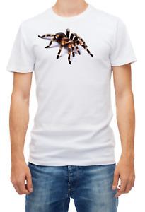 Tarantula spider 3D effect Party gift funny Short sleeve White Men T shirt K164