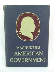 Magruder's American Government 1952 Hardcover Book - Good Condition