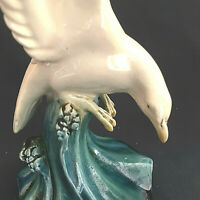 Vintage Diving Seagull Meissen Style Porcelain Figurine Germany