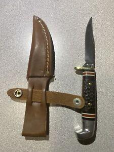 Very Rare Western Knife 628 J Stamped New W/Sheath