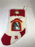 Pet Dog Christmas Stocking With Picture Window NWOT Free Shipping