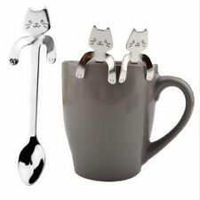 Stainless Steel Cat Coffee Drink Spoon Tableware Kitchen Supplies Hanging Cups