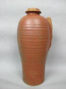 """Large vintage Japanese Studio Pottery Vase / Urn Bottle Shaped. Stoneware 13.5"""""""