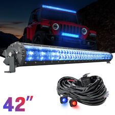 "42"" Magical M1S Aerodynamic LED Light Bar IceBlue Marker Lamp + Wiring Harness"