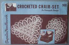 VIntage Superior Pineapple Design Chair set crochet pattern original envelope