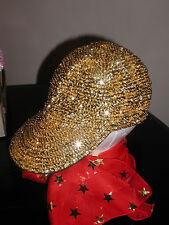 CHILD GOLD SEQUIN BASEBALL HAT KIDS CAP CHILDREN LOVE GLITZ AND SPARKLE!!!
