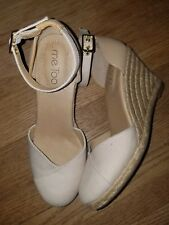 Me Too - Blakely Espidrille Ivory Wedge Pump Size 6.5