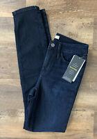 NEW Athleta Jeans Sculptek Skinny Dark Overdye Wash 6T 6 Tall NWT