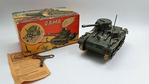 Tin Toy  GAMA tank 60/3/4 - Original box, Key, Instruction-
