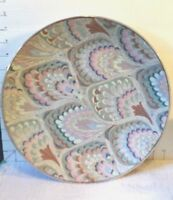 """Macau, Porcelain,Chinese Platter,12 1/2"""", Pastel Colors, Gold Trim, Hand Crafted"""