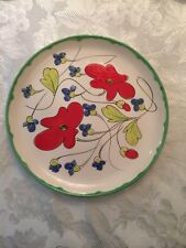 Mancioli Pottery Dinner Plates Hand Painted Made In Italy
