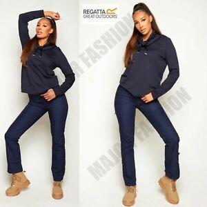 Ladies Womens Regatta Navy Quarterdeck Trousers Outdoor Stretch Casual Pants