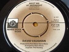 """David Vaughan-INCONTRIAMOCI A MEZZANOTTE 7"""" in vinile"""