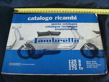 MANUALE LAMBRETTA INNOCENTI CATALOGO RICAMBI 175 TV 125 LI 150 OLD SCOOTER ITALY