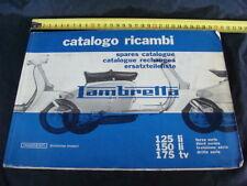 MANUALE LAMBRETTA INNOCENTI CATALOGO RICAMBI 175 TV 125 LI 150 OLD SCOOTER ITALY