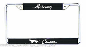 Cougar Number Plate Licence Frame USA Size Mercury 1967 1968 1969 1970 1971 XR7