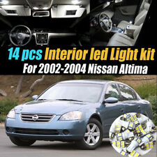 14Pc Super White Interior LED Light Bulb Kit Package For 2002 2004 Nissan  Altima