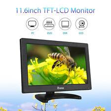 "EYOYO Portable 11.6"" TFT LCD Monitor Screen HDMI VGA BNC AV For PC DVD CCTV"