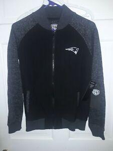 New England Patriots football Full-Zip Jacket NFL fan apparel shirt - Ladies L