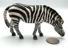 Schleich GRAZING ZEBRA Retired 2009 Animal Figures 14609 RARE!