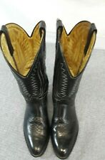 Mason Men's Size 9.5 Black Western Black Cowboy Leather Boots~ USA