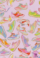Alexander Henry Boardwalk Pink Trainers Sneakers 8729A Cotton Fabric by the Yard