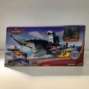 Mattel Disney Planes Aircraft Carrier Playset Dusty Crophopper Brand New #402