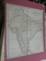 100% ORIGINAL LARGE INDIA HINDOOSTAN MAP BY ARROWSMITH C1840 VGC ORIGINAL COLOUR
