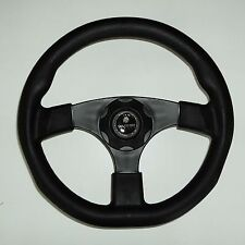 New OEM Gussi Boat Steering Wheel M500 All Black Plastic & Soft Touch Rim