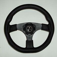 New OEM Gussi Boat Steering Wheel M500 All Black Plastic & Soft Touch Rim