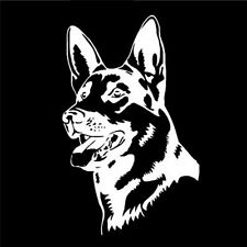 White GERMAN SHEPHERD DOG Animal Car Stickers Fashion Classic Personality O