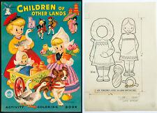 """1954 Original Line Art Paper Doll """"Children of Other Lands"""" - Eskimo (5666)"""