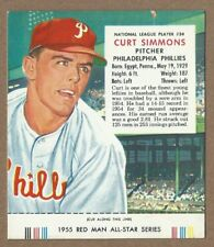 1955 Red Man #24 Curt Simmons  Phillies  With Tab