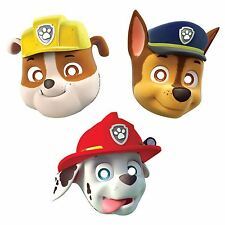 MASCHERINE IN CARTONCINO PAW PATROL CONF. 8 PEZZI FESTE E PARTY