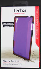 TECH21 IMPACTOLOGY CLASSIC TACTICAL PHONE CASE FOR SONY XPERIA Z3 - PURPLE - NEW