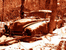 """Abandoned Junk Cars Collection #6 - Canvas Art Poster 18"""" x 24"""""""